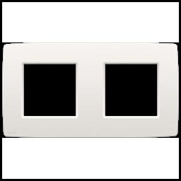 NIKO original white dubbele Afdekplaat 156x85mm