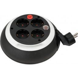 Comfort-Line kabelhaspel CL-S 4-voudig zwart/wit 3m H05VV-F 3G1,5 *FR*