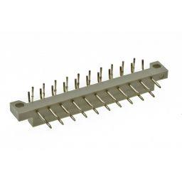 DIN41617 connector - 21-polig - Mannelijk - 90° - Printmontage