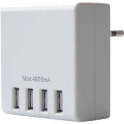 USB-voeding met 4 USB poorten - 5V 4.8A