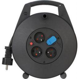 Kabelhaspel met 3 stopcontacten en 2 USB aansluitingen - 10 meter