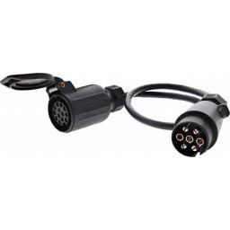 Adapter 13  naar 7 polig 50cm kabel 13F-7M