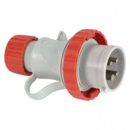CEE Plug 3P+E 16A 200V-415Vac IP44