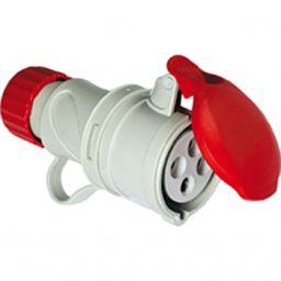 CEE Socket 3P+E 16A 200V-415Vac IP44