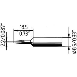 Vervangpunt voor ERSA60W (ANALOG 60) & RDS80 - soldeerstation 2,2mm.