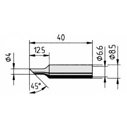 Soldeerstift  4mm met ERSADUR coating ***