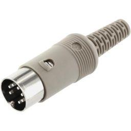 7-polige DIN connector - Mannelijk - Voor op kabel - Plastiek