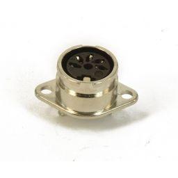 5-polige DIN connector - 180° - Vrouwelijk - Met bajonetaansluiting - Metaal - Chassismontage