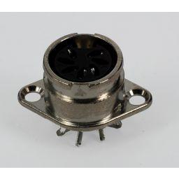 *** 7-polige DIN connector - Vrouwelijk - Met bajonetaansluiting - Metaal - Chassismontage