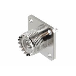 UHF-connector - Vrouwelijk - PRO-serie -  vierkante flens - Chassismontage