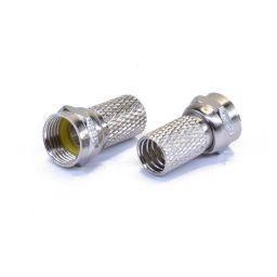 F - connector - Mannelijk - Voor 7mm kabel - Schroefuitvoering (Twist-on)