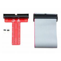 Assembled Pi T-cobbler plus GPIO Breakout voor Raspberry Pi 3, 2, Zero, A+ en B. - 40 pin