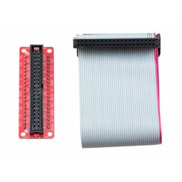 Assembled Pi+ cobbler & breakout cable for Raspberry Pi - 40 pin