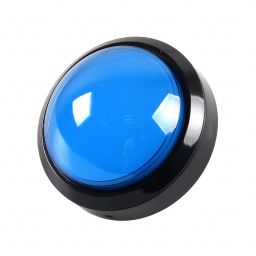 Grote dome LED drukknop blauw D: 100mm - Arcade