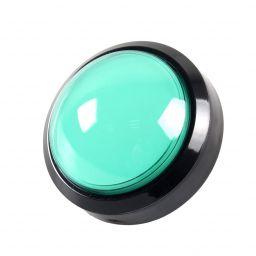 Grote dome LED drukknop groen D: 100mm - Arcade