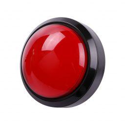 Grote dome LED drukknop rood D: 100mm - Arcade