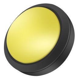 Grote dome LED drukknop geel D: 100mm - Arcade