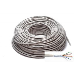FTP100 4x2/0,5 twisted pairs FTP CAT5E foil shielding 100m