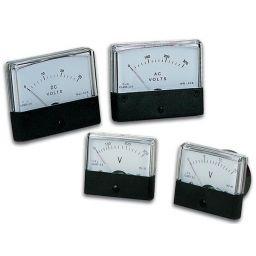 Analoge paneelmetervoor DC spanningsmetingen 30V DC / 70 x 60mm