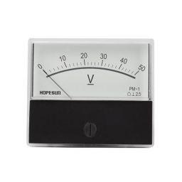 Analoge paneelmeter voor DC spanning - 50V DC - 70x60mm