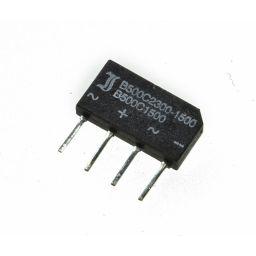Bruggelijkrichter w+w- / 1,5A 500Vrms afm: 19x10x3,5mm