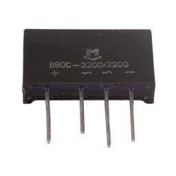 Bruggelijkrichter 80V - 3,2A afm: 17x32x5,5mm***