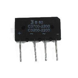 Bruggelijkrichter - 3,7A - 80V afm: 17x32x5,5mm***