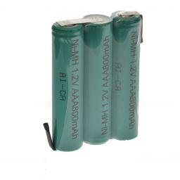 NiMH - batterijpack 3,6V - 800 mAh - 30 x 45 x 10mm -