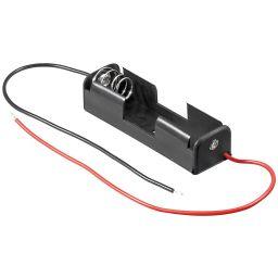 Batterijhouder voor 1 x AA-cel - met draden