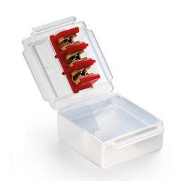 Waterdichte aansluitbox met geïntegreerde 3-polige connector - 53 x 49 x 22 mm - 1 stuk