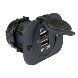 USB-lader voor de auto - inbouw (12 - 24V)
