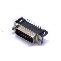 SUB-D connector - 15-polig - Mannelijk - Printmontage - Haaks - HQ