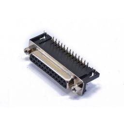 SUB-D connector - 25-polig - Vrouwelijk - Printmontage - Haaks - HQ
