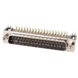 SUB-D connector - 37-polig - Mannelijk - Printmontage - Haaks