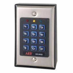 Verlicht veiligheidstoetsen- bord met 2 relaisuitgangen