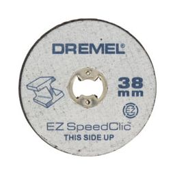 DREMEL-S456     EZ SpeedClic : 5      schijfjes 38mm  voor het       doorslijpen van metalen        (SC456)