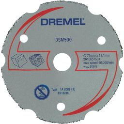 DREMEL-S500  Multifunctionele carbide       doorslijpschijf S500  voor       DSM20.