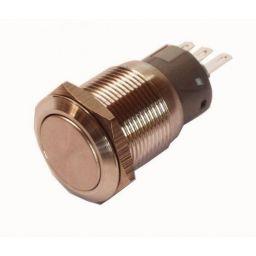 Zwarte INOX Drukknop enkelp. 5A/250VAC IP68 - ON-(ON)