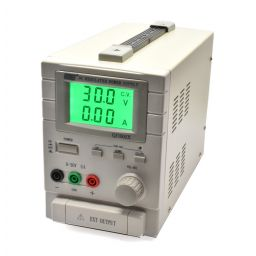 Labovoeding met LCD display - 0-30V / 0-5A enkel - 11GTR1