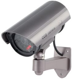 CCTV dummy camera in buitenbehuizing + led