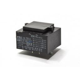 Printtransformator 3VA 2x(0-6-8)V