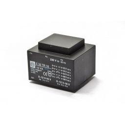 Printtransformator 16VA 2x(0-12-16)V