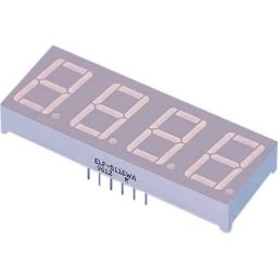 4 digits 7 segment display - Common anode Rood
