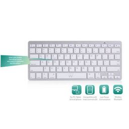 Compact Bluetooth toetsenbord Azerty, belgische layout