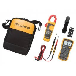 Set met FLUKE-117 digitale multimeter en FLUKE-323 stroomtang.