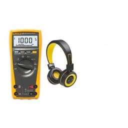 True RMS multimeter met alle belangrijke meetfuncties - PROMO met bluetooth headphone