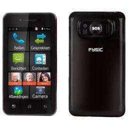 """Eenvoudige smartphone voor senioren - 4"""" - Zwart"""