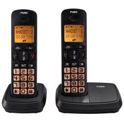DECT-telefoon met grote toetsen en 2 handsets