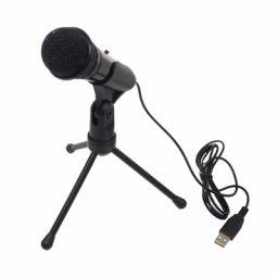 Condensator USB microfoon met houder en regeling.