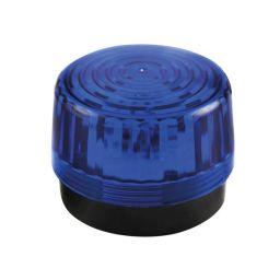 Elektronische flitslamp 12VDC - Blauw - met LED